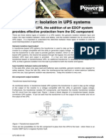 Isolation in UPS Systems