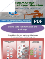 Extend Data Transformation and Exchange Presented by Quontra Solutions
