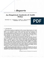 1987 Ashton Et Al an Empirical Analysis of Audit Delay