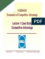 Lecture 1 Case Study - Dell