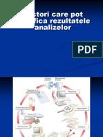 Curs 1 Factorii Care Influenteaza Rezultatele Analizelor de Lab