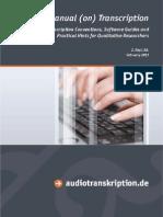 Manual on Transcription