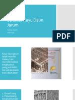 Struktur Kayu Daun Jarum