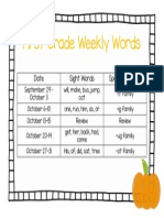 Weekly Words Slide