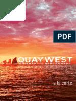 quaywest a la carte for web september 2014
