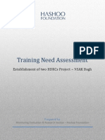 ROTA-Bagh--Training Need Assessment - ROTA Project Bagh (Version 2)
