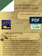 Alqur an Sebagai Sumber Hukum Islam