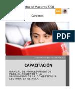 Manual de Procedimientos Para El Fomento y La Valoracion de Competencia Lectora