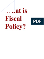 What is Fiscal Policy
