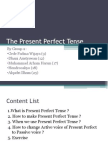 The Present Perfect Tense Group 2 x2