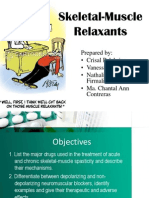 Skeletal Muscle Relaxants