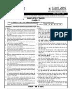 STaRT 2015 Sample Test Paper Clsss 6