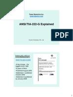 ANSI TIA 222 G Explained Tower Numerics Inc