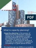 Capacity planning framework