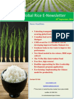 29th September,2014 Daily Global Rice E-Newsletter by Riceplus Magazine