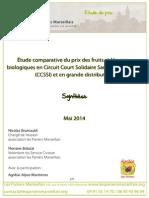 Etude Comparative de Prix - Les Paniers Marseillais