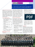 MBA HOSPITAL AND HEALTH MANAGEMENT Flyer (Sept 2014)