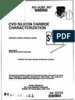 Cvd Silicon Carbide Characterization (1994)