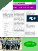 MBA PHARMACEUTICAL MANAGEMENT Flyer (Sept 2014)