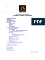 Department of Anesthesiology Cardiothoracic Anesthesia Rotation Manual