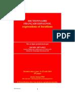 Locuciones - Dictionnaire Francais Espagnol