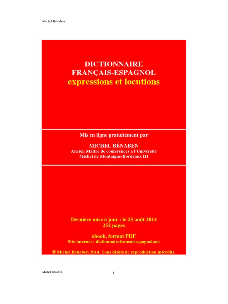 Locuciones - Dictionnaire Francais Espagnol cb80c2118f3