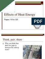 Effects of Heat Energy