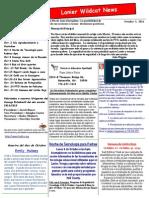 October 2014 Newsletter-Spanish