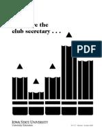 4H Club secretary Instruction manual