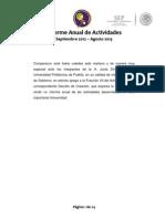 Upp Informe Anual de Actividades 2012 2013