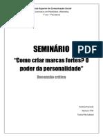 RECENSÃO CRITICA - Seminário - Shift Thinkers