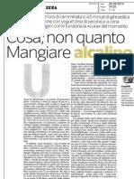 La cura alcanina sul Corriere della Sera
