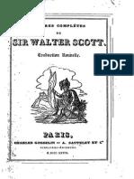 Walter Scott - Romanciers Célebres - Tome II