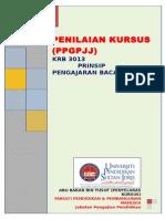 Krb 3013 Semester 1 2014 2015 Penilaian Kursus Prinsip Pengajaran Bacaan