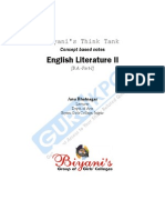 English Literature- II B.a I Year