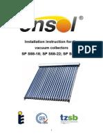 En ENSOL - Installation Instruction Vacuum Collector