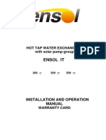 En Ensol - Installation Manual Water Heater With Solar Pump-group