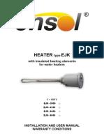 En Installation Manual Heater Type EJK