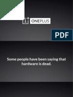 Oneplus One Keynote