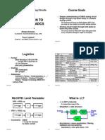 EC1371 Advanced Analog Circuits L1