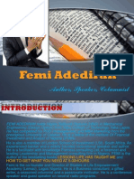 Femi Adediran Media Kit