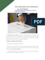 Los once delitos electorales que contempla la Ley colombiana