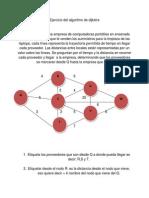 Ejercicio Del Algoritmo de Dijkstra