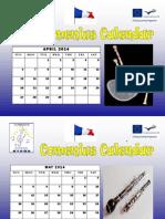 Calendar Comenius April 2014 - April 2015