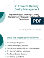 20110208 Implementing Dr Demings Quality Philosophy