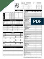 Gt Character Sheet
