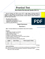 Std VI - Practical Test - Model Test Papers