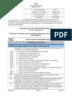 Custody Checklist