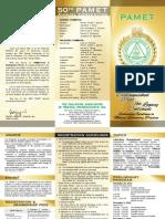 50th PAMET Convention Invites