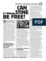SWSS Palestine and BDS leaflet